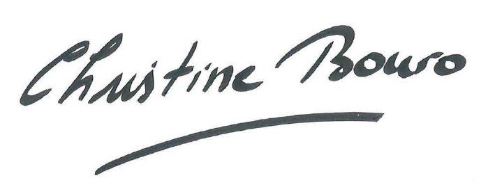 Signature Christine Bouro